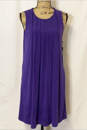 NWT Calvin Klein Pleated Purple Dress, Size 8